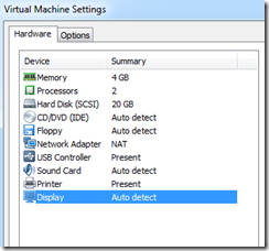 3d acceleration requires updating vmware tools in this machine