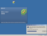 Setup is extracting files to install the VSphere...